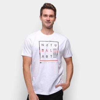 Camiseta Natural Art Zig Zag Waves Masculina