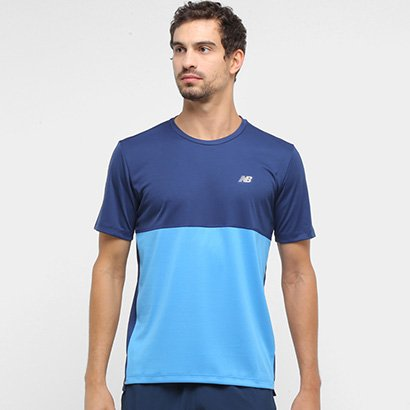 Camiseta New Balance Colorblock Masculina