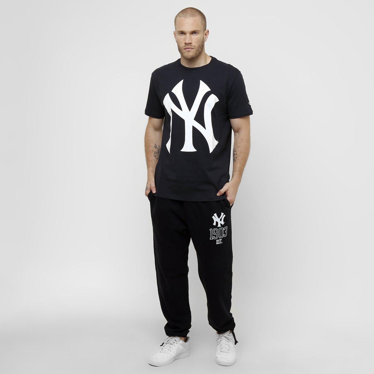 Camiseta New Era MLB Color New York Yankees 10 - Marinho - Compre ... c02a634d39a