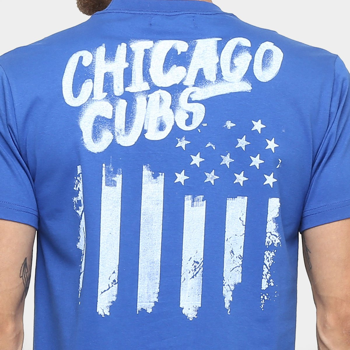 4201d76eb6 Camiseta New Era MLB Nac Flag Usa 6 Chicago Cubs - Compre Agora ...