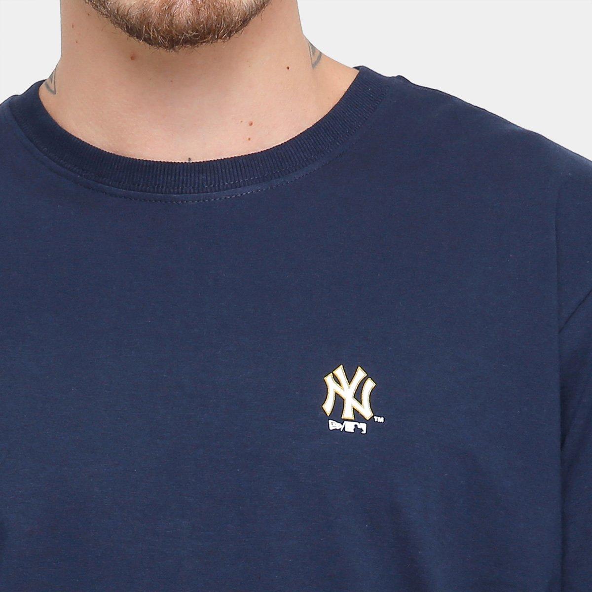 Camiseta New Era MLB New York Yankees Gold City Masculina - Compre ... 2b8ae9168a9