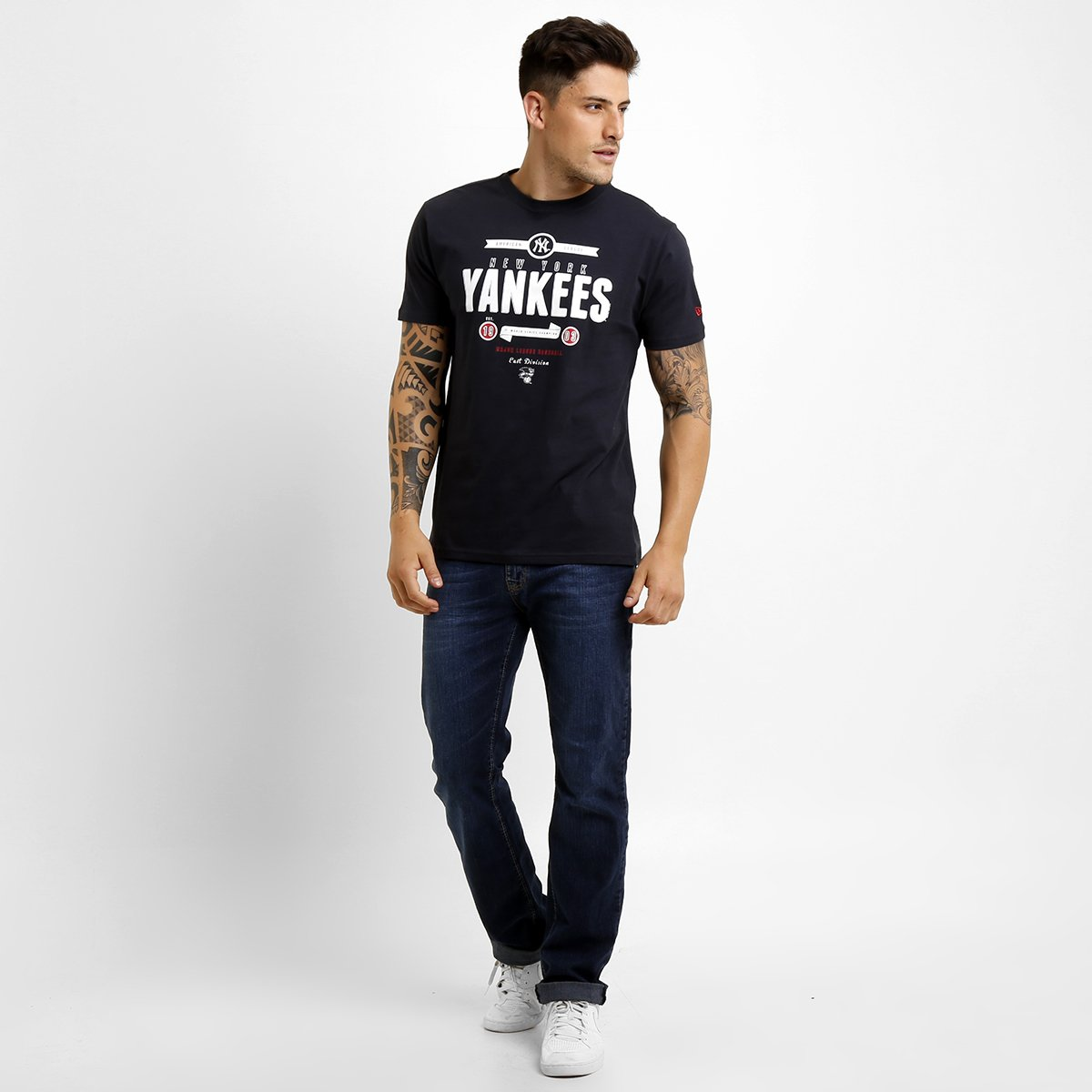 Camiseta New Era MLB Retro New York Yankees - Compre Agora  3ff437c7aa1