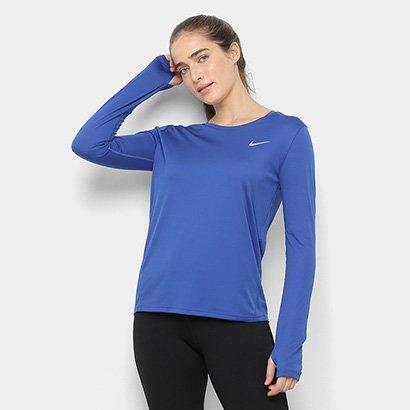 Camiseta Nike Dri-Fit Miler Manga Longa-Feminino