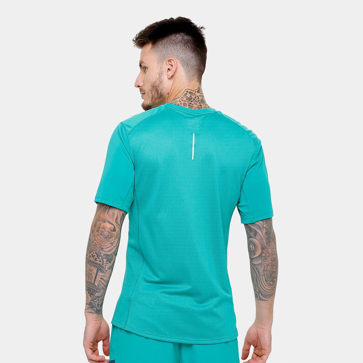 ceced9dce4 Camiseta Nike Dri-Fit Miler SS Masculina - Verde - Compre Agora ...