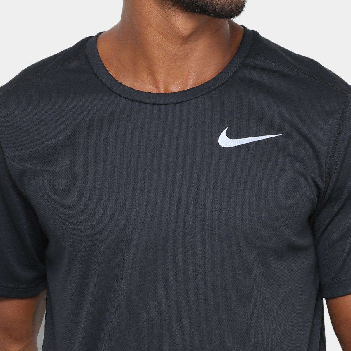 Camiseta Nike DRI FIT Run Masculina Preto
