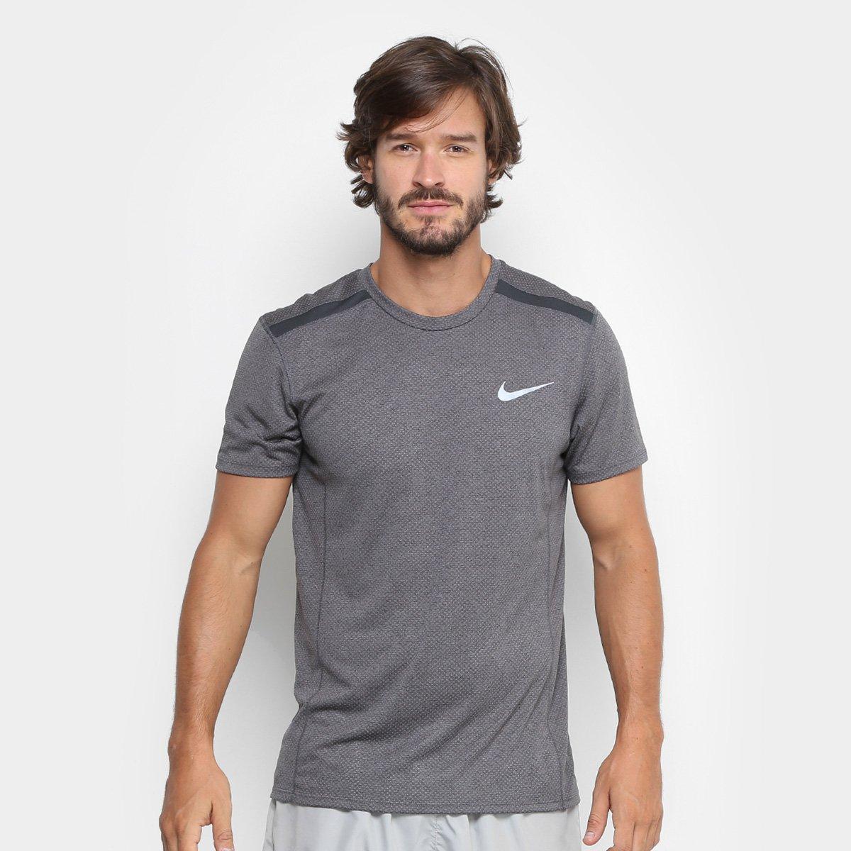 Camiseta Nike Dry Cool Miler SS Masculina - Preto - Compre Agora ... 22310da915e1d
