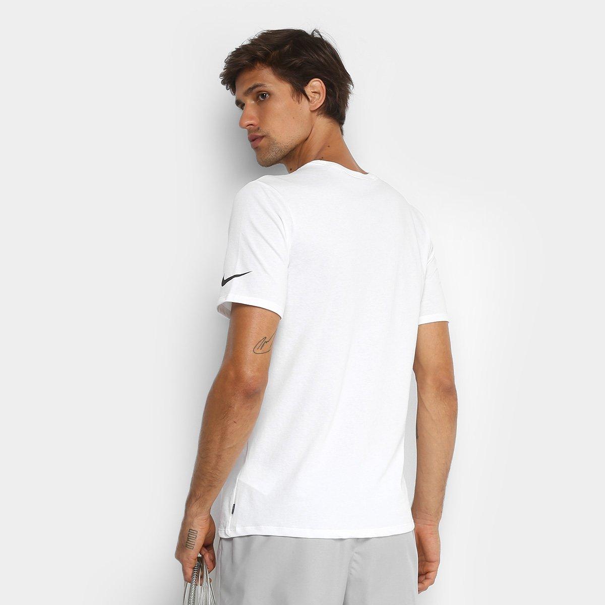 Camiseta Nike Dry Just Do It Masculina - Branco - Compre Agora  067dafae07a05