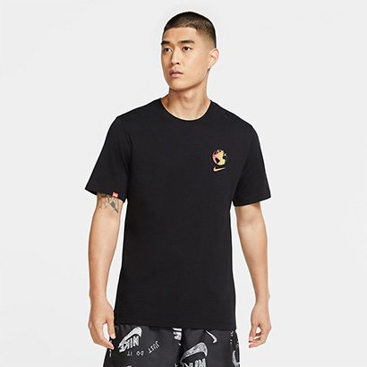 Camiseta Nike Sportswear Worldwide Glo Masculino - Masculino-Preto