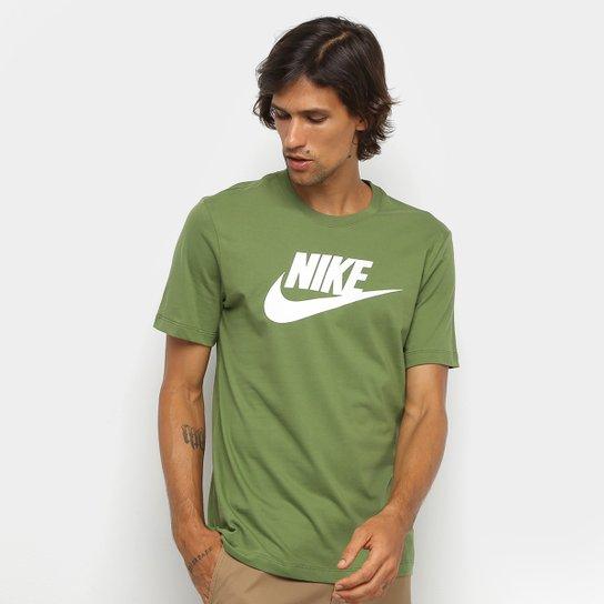 estante Poner golpear  Camiseta Nike Sportwear Icon Futura Masculina - Verde claro | Zattini