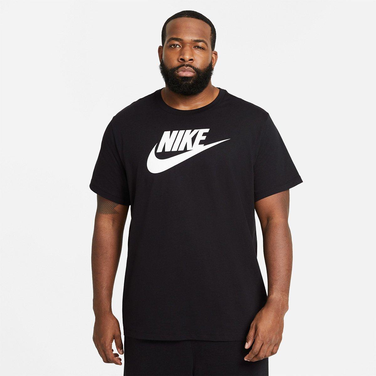 Cambio Mirar furtivamente Solo haz  Camiseta Nike Sportwear Icon Futura Masculina - Preto e Branco | Zattini