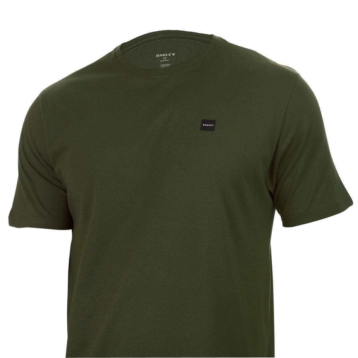 Camiseta Oakley Patch 2.0 Dark Brush Masculina - Verde Militar