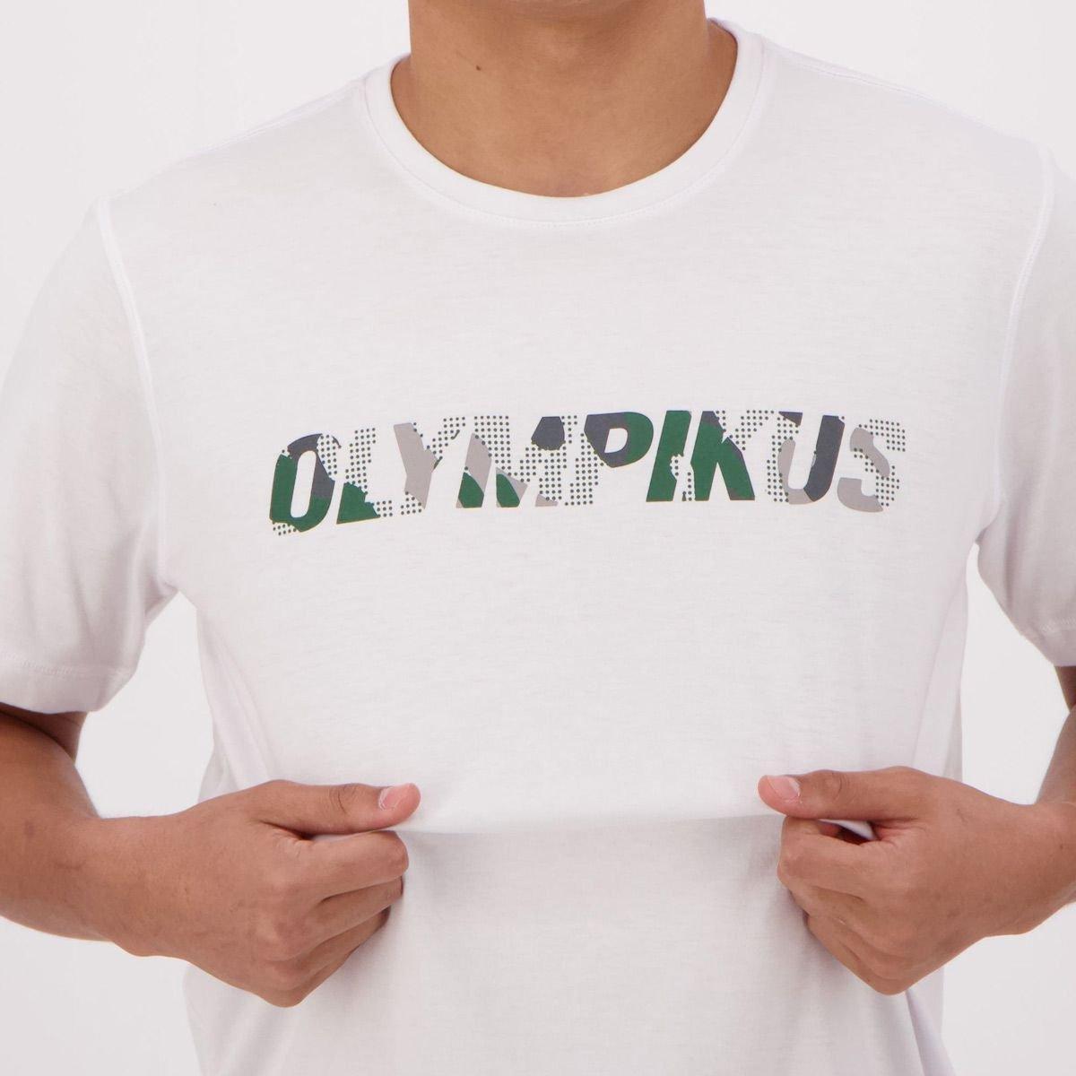 Camiseta Olympikus Basic Print Masculina - Branco