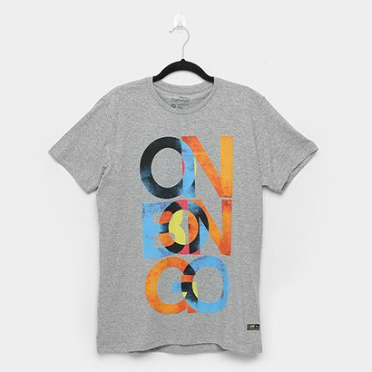 Camiseta Onbongo Color Letters Masculina