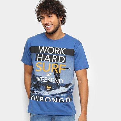 Camiseta Onbongo Work Hard Surf Masculina