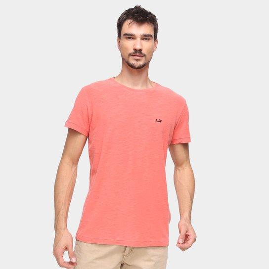 Camiseta Osklen Estampa Nas Costas Masculina - Rosa Escuro