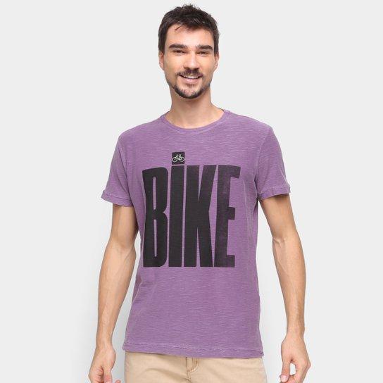 Camiseta Osklen Estampada Masculina - Roxo