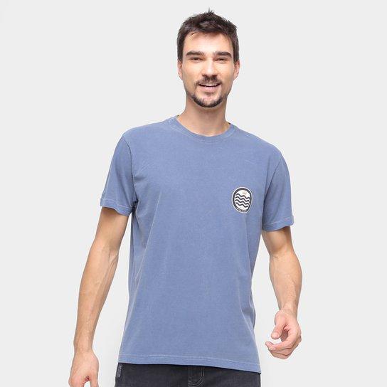 Camiseta Osklen Estonada Masculina - Azul