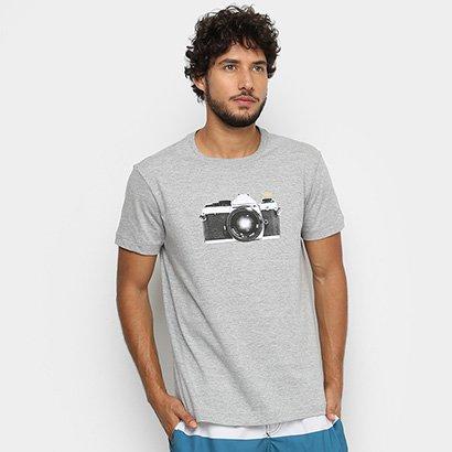 Camiseta Osklen Mescla Câmera Masculina