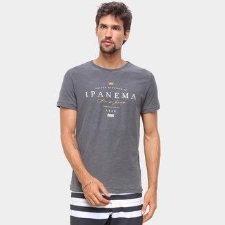 Camiseta Osklen Rough Ipanema Rótulo Masculina