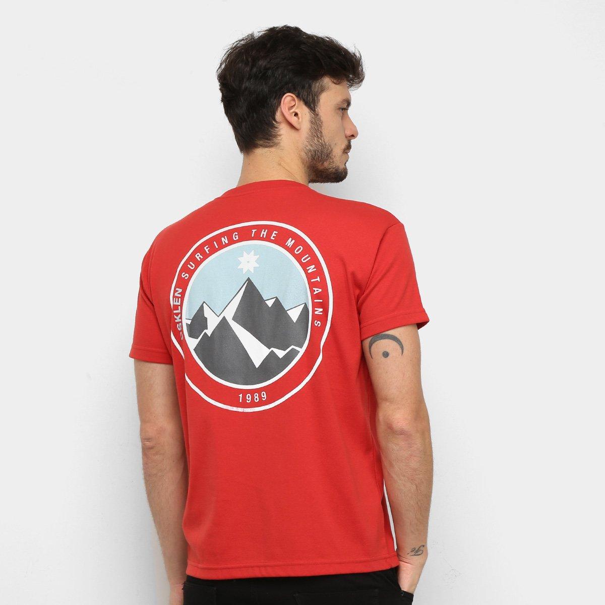 Camiseta Osklen STM 1989 Masculina - Vermelho Vbz5W5yT