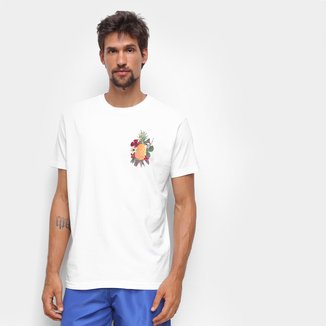 Camiseta Osklen Stone Abacaxi Floral Masculina