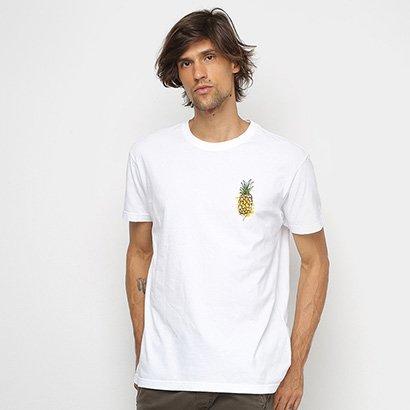 Camiseta Osklen Stone Abacaxi Watercolor Masculina