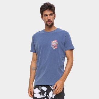 Camiseta Osklen Stone Brasão Flower Masculina