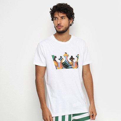 Camiseta Osklen Stone Tropicrown Masculina
