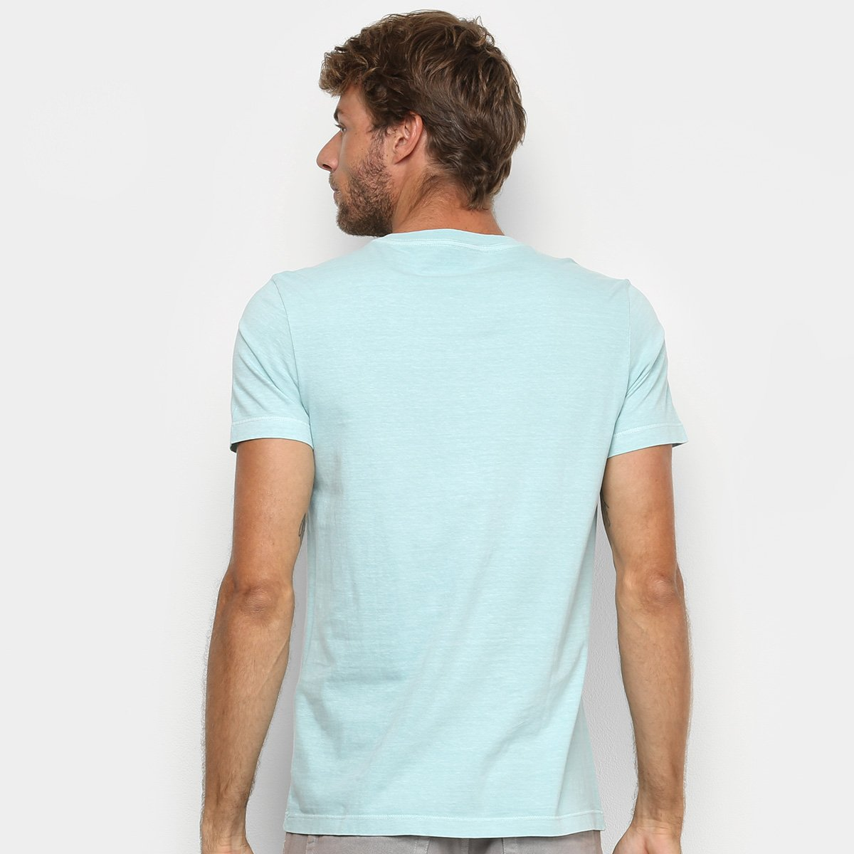 Camiseta Osklen Stone Vintage Surfing Masculina - Azul