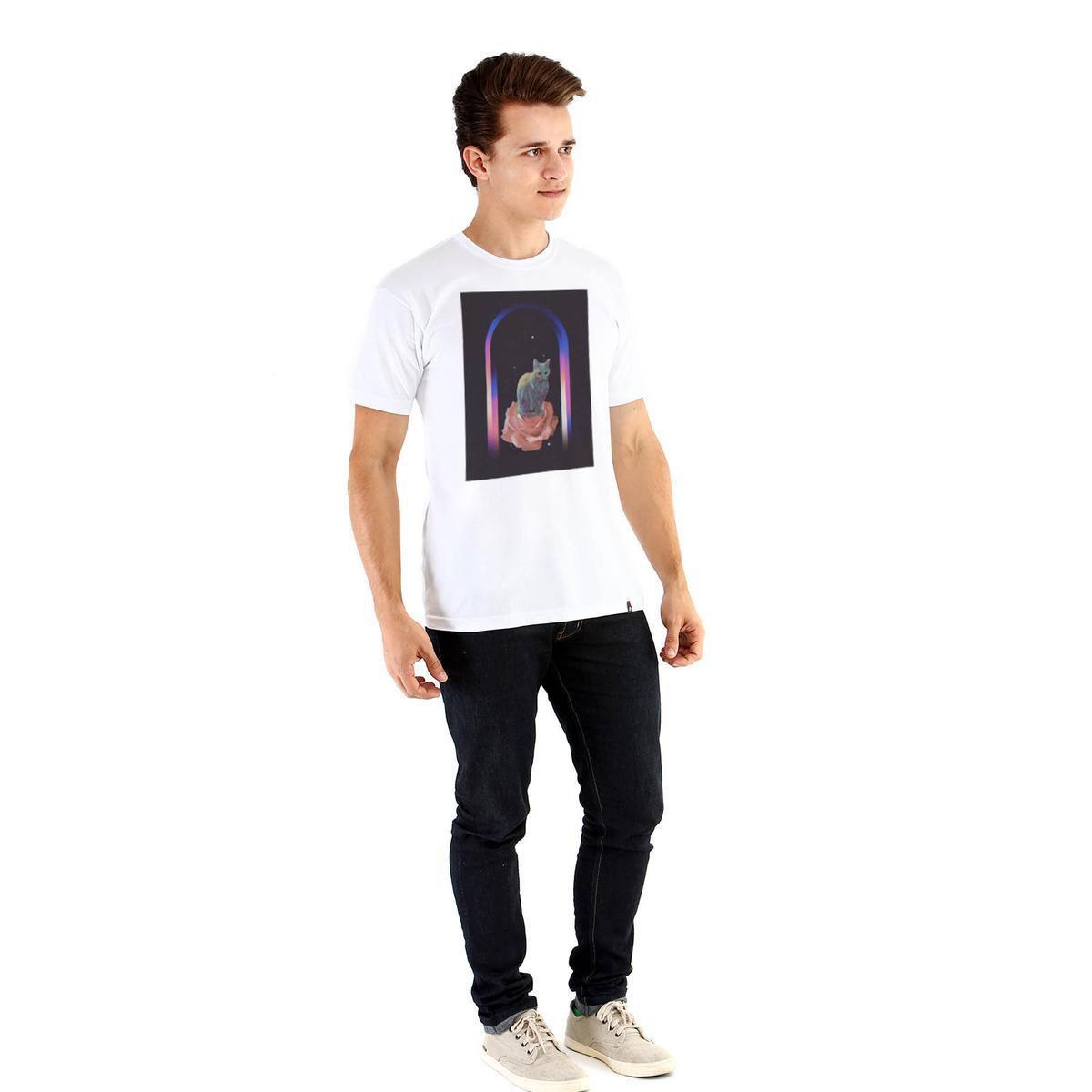 Camiseta Ouroboros El Gatito Masculina - Branco