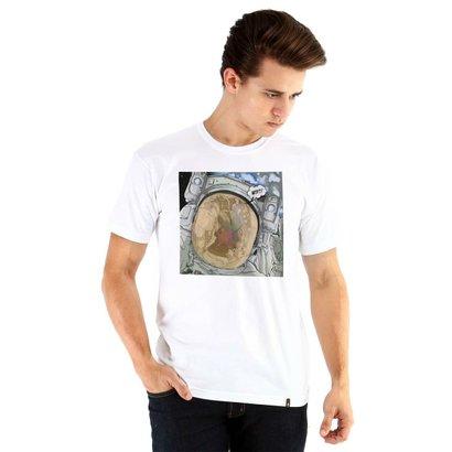 Camiseta Ouroboros manga curta astronauta