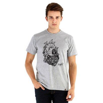 Camiseta Ouroboros Manga Curta Coração De Pedra Masculina