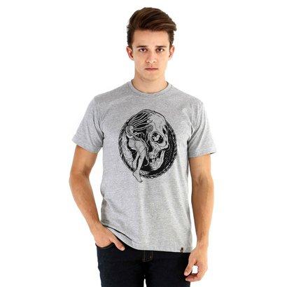 Camiseta Ouroboros Manga Curta Tempo Masculina