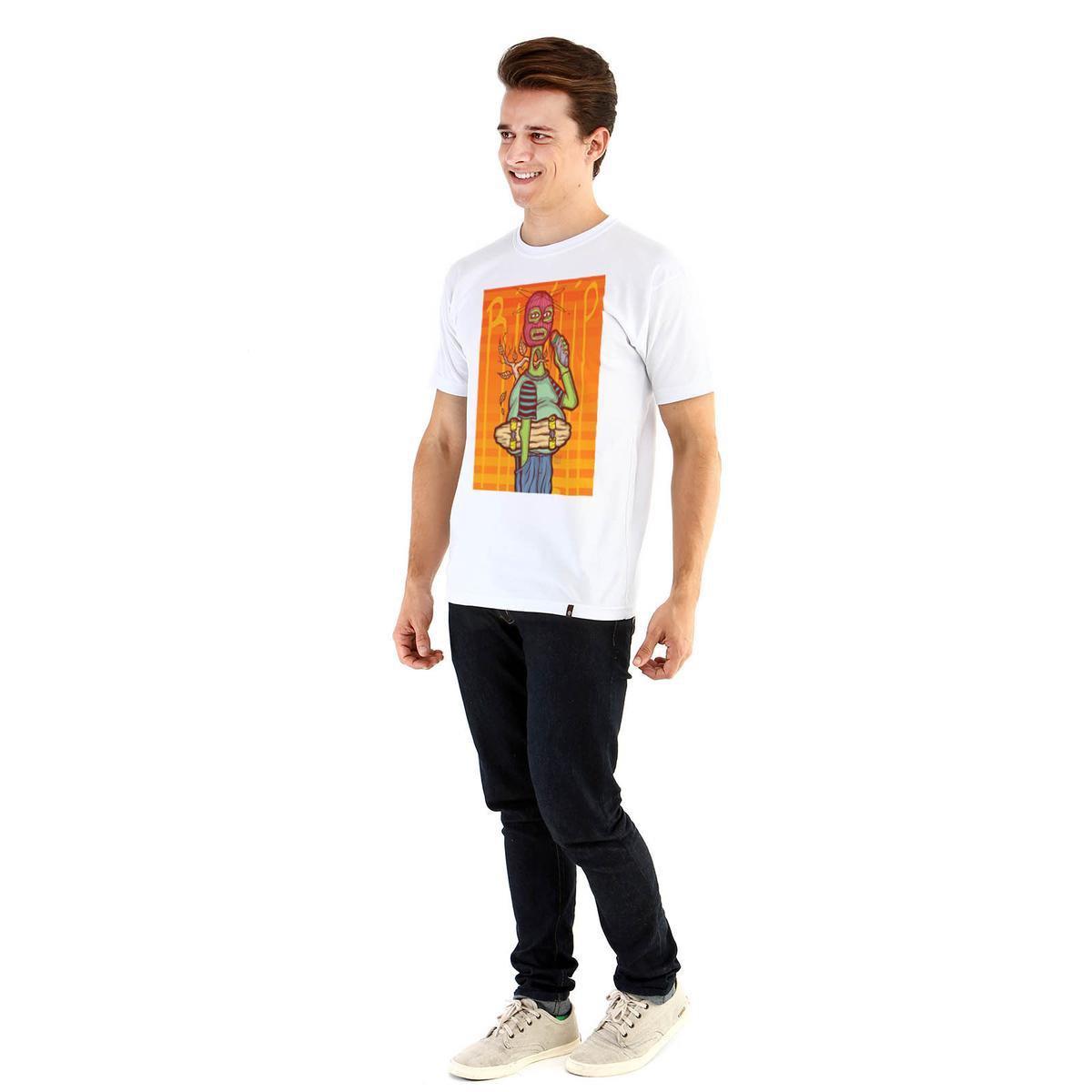 Camiseta Ouroboros Old School Masculina - Branco