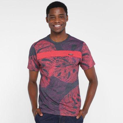 Camiseta Overcore Folhagens Masculina