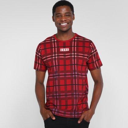 Camiseta Overcore Xadrez Bolso Masculina