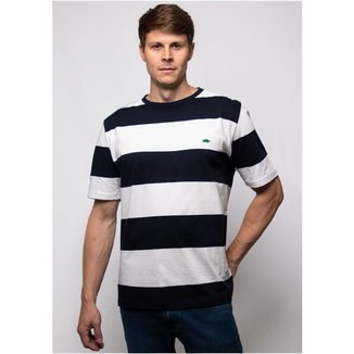 Camiseta Pau a Pique Listrada Masculina