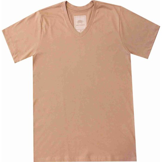 Camiseta Pau a Pique Masculina - Bege