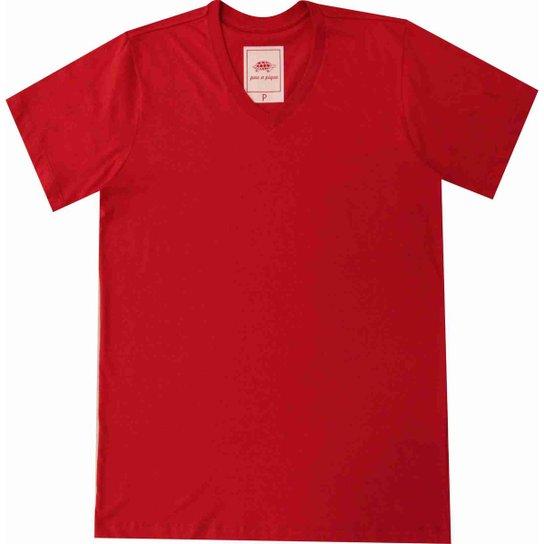 Camiseta Pau a Pique Masculina - Vermelho