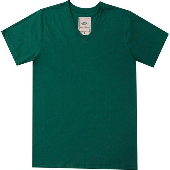 Camiseta Pau a Pique Masculina - Verde