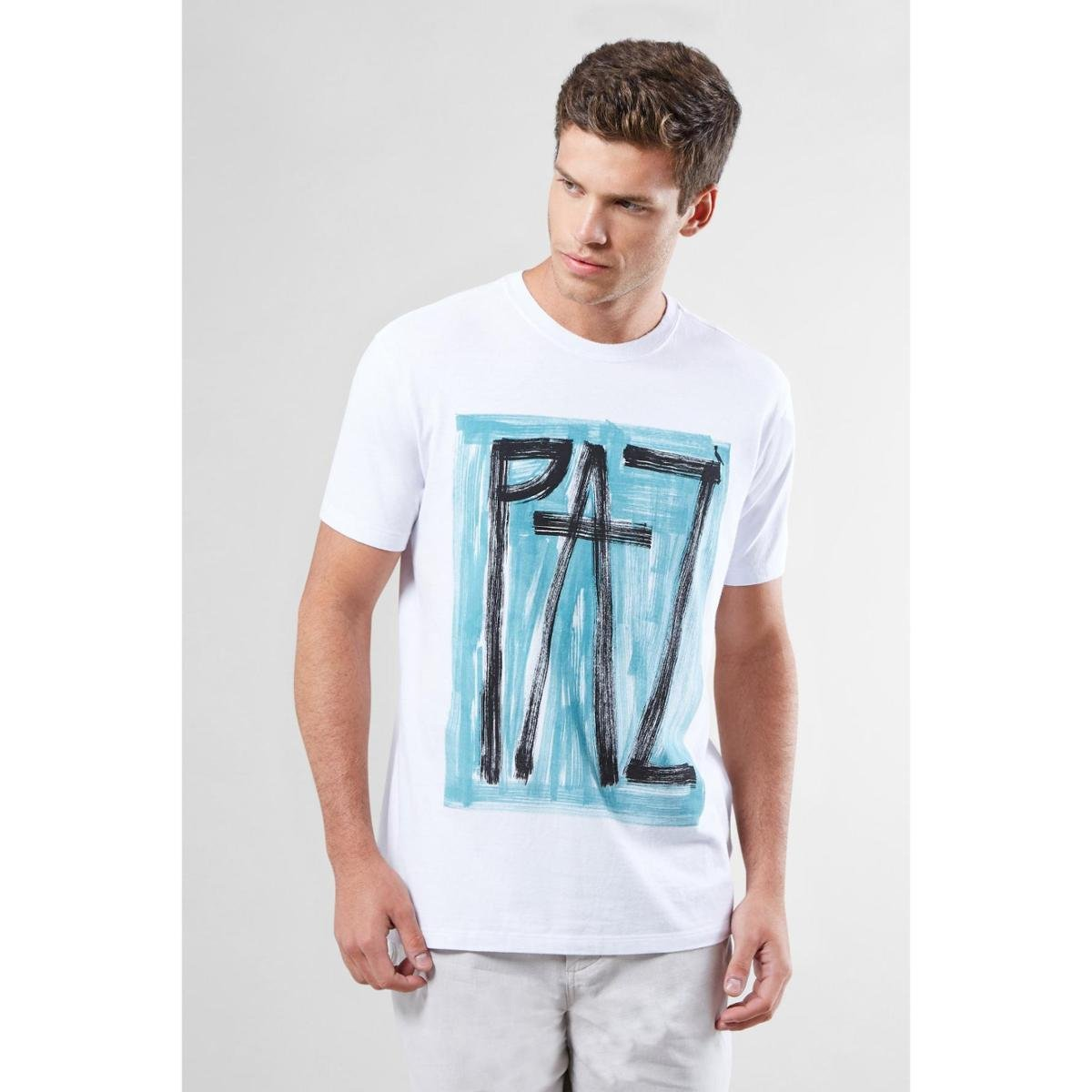 94f5943c5c Camiseta Pf Estampada Paz Reserva Masculina - Branco - Compre Agora ...