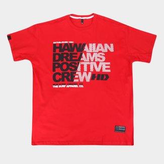 Camiseta Plus Size HD  Hawaiian Dreams Masculina