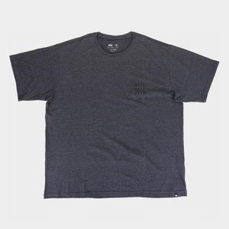 Camiseta Plus Size Natural Art Folhas Masculina