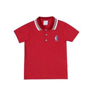 Camiseta Polo Infantil Paraíso Vermelho