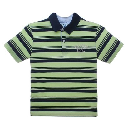 Camiseta Polo Manga Curta Listrado - Vr Kids