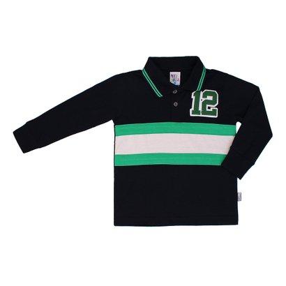 Camiseta Polo Masculino Pulla Bulla Marinho