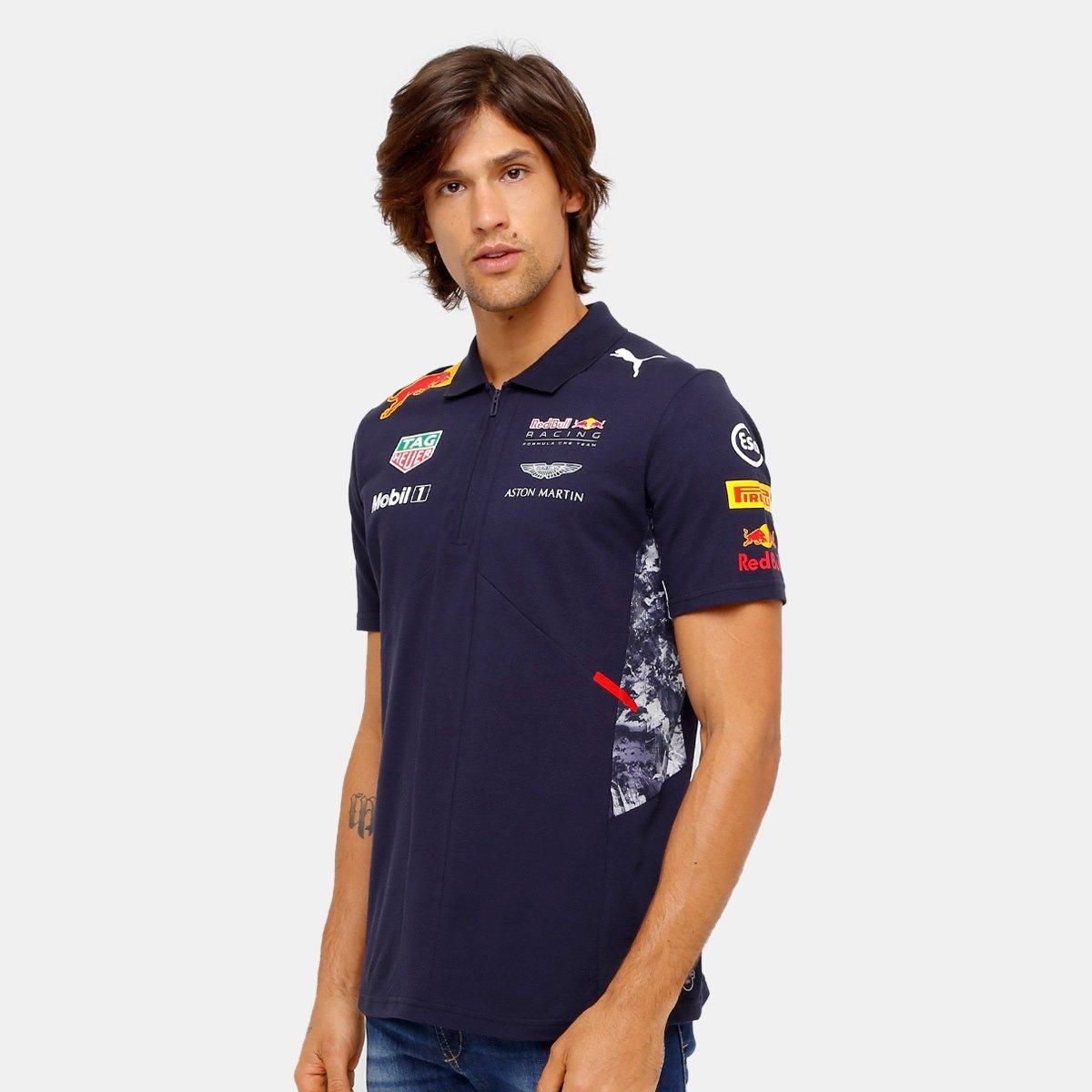 Camiseta Pólo Puma Red Bull Racing Team Masculina | Zattini