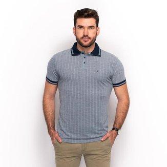 Camiseta Polo Teodoro Listrada Slim Casual Masculina