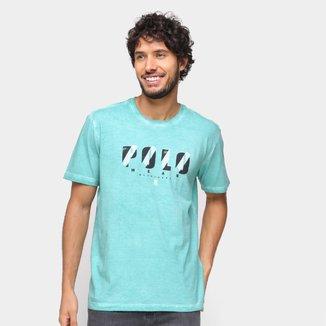 Camiseta Polo Wear Básica Tingida Masculina