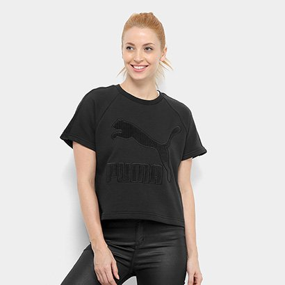 Camiseta Puma Downtown Structured Top Feminina-Feminino